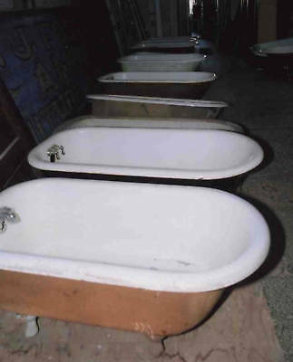Five Foot Porcelain on Cast Iron Clawfoot Tub Architectural Salvage