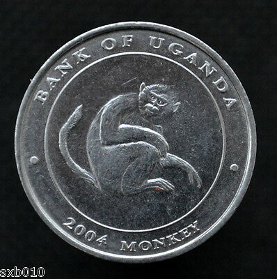 Uganda 100 Shillings (Year of the Monkey) 2004. km204. UNC. Animals coin.
