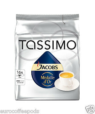 Tassimo Jacobs Medaille Dor Coffee 2 Pack, 32 T-Discs / Servings