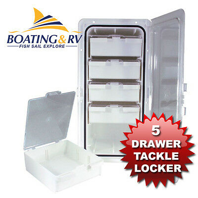 Fishing Tackle Storage Box 5 Drawer Storage Tray Compartment for Tool Lure Hook