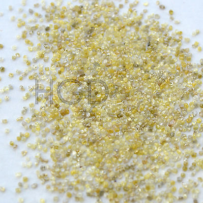 100% NATURAL Loose Rough Uncut Roundish Diamonds Fancy Yellow 1.00mm 25 crts lot