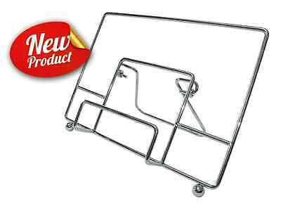 Foldable Heavy Duty Wire Cookbook Recipe Book iPad & Tablet Holder Stand