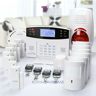 HOMSECUR Wireless&Wired GSM SMS Pet Friendly Home Security Burglar Alarm System