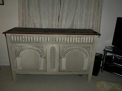 G T Rackstraw Oak sideboard painted in Annie Sloan 152cmW x 51cmD x 93cmH