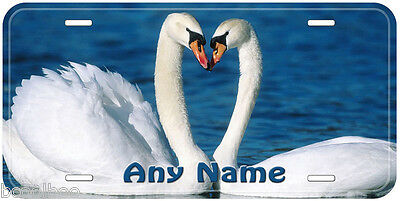 Swan Pair Love Aluminum Any Name Personalized Car Auto Novelty License Plate