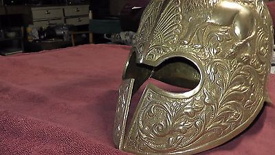 reproduction ? Ancient Greek Spartan Roman Heavy Brass Lions Snake rare helmet