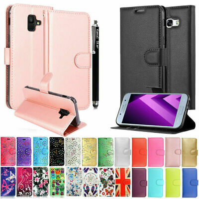 Luxury Patterned New Leather Wallet Flip Case Cover For Samsung Galaxy Phones