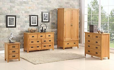Berwick Oak Bedroom Trio Set