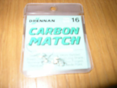 Drennan Carbon Match Micro Barbed Hooks size 16
