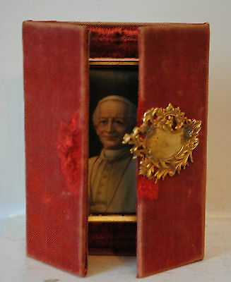 Hand Painted Porcelain Plaque, Pope  Leo XIII, Italy