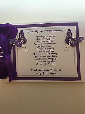 Personalised Boxed Guest Book Hen Night Wedding Birthday With Poem On The Front