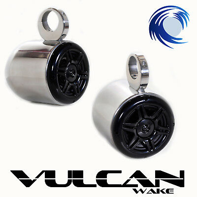 Wakeboard Tower Speakers *Polished Aluminium* Vulcan Bullets