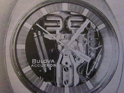 1971 Bulova Accutron Spaceview T Original Print Ad-9 x 11 ""