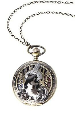 Disney The Little Mermaid Ariel Ursula Pocket Watch Necklace New With Tags!