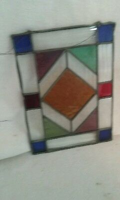 Antique stained glass window pane