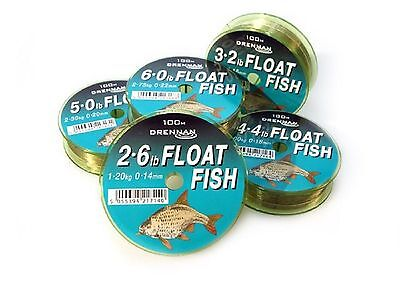 Drennan Float Fish Coarse Fishing Mono Line 100m All Breaking Strains Available