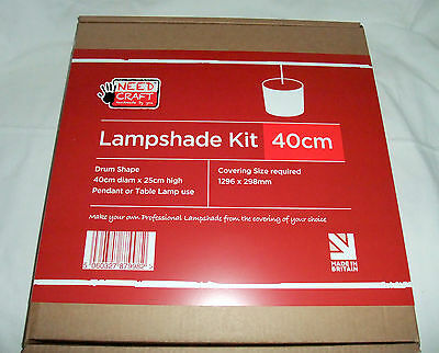 40Cm Drum Lampshade Making Kit (With Translucent Polypropylene Diffuser Option)