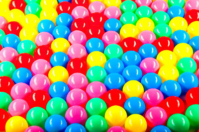 100 Pack of Plastic Pit Play Balls Non Toxic Crush Proof BPA Free BRAND NEW
