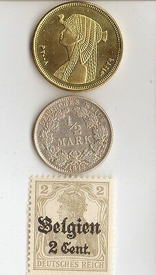 *-smal  LOT of  of  WWI  and  WW2 - *us  and  *german  Stamps  and  COINS