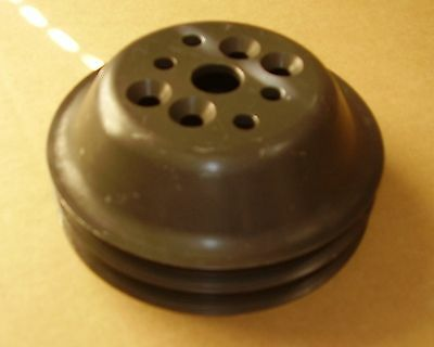 """SBC CV Products Water Pump Pulley 5 7/8"""" OD Serpentine Late Model Modified NHRA"""