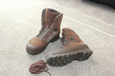 Haix Brown Suede Combat Boots - New Without Box - British Army Issue Size 9