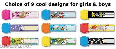 REUSABLE Kids ID Wrist Bands - find lost children - festival holiday school trip