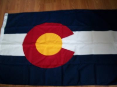 3x5 Colorado Flag Valley Forge Dyed SpectrPro Polyester Commercial Grade NIB