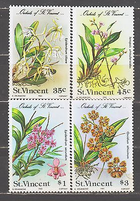 St. Vincent Stamps.#803-6 Orchids MNH(payment in US dollars)
