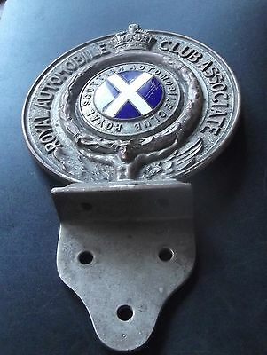 vintage scottish royal automobile club members bar badge low number