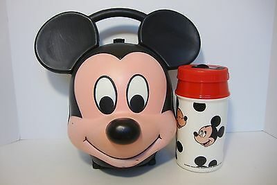 Vintage Mickey Mouse Lunch Kit Lunchbox with Thermos