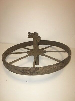"Vintage Metal 16"" Wheelbarrow Wheel"