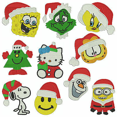 * CHRISTMAS MIXED SET1 * Machine Embroidery Patterns * 10 Designs, 3 sizes