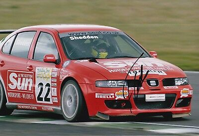 Gordon Shedden Hand Signed Seat 12x8 Photo Touring Cars.
