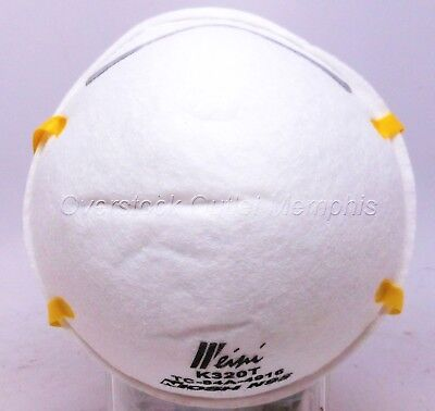 N95 Particulate Respirator Dust/Pollen Mask 20cnt Latex Free Double Band