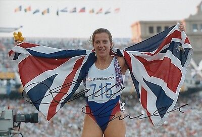 Sally Gunnell Hand Signed 12x8 Olympics 12x8 Photo Great Britain.