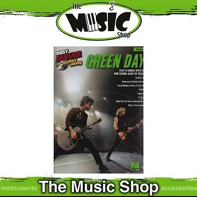 New Green Day Easy Guitar Play Along Book & CD - Volume 10