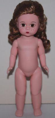"""4RF 8"""" Madame Alexander Nude Dress Me Doll Red-Head w/Freckles"""