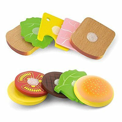 Brand New Viga Hamburger & Sandwich Set Pretend Play Toy Food Role Play