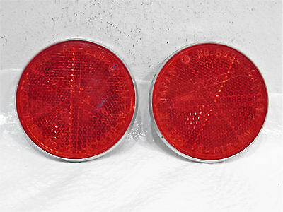 1985 79-87 Yamaha QT50 Yamahopper Cat Eye Rear Reflectors Reflector