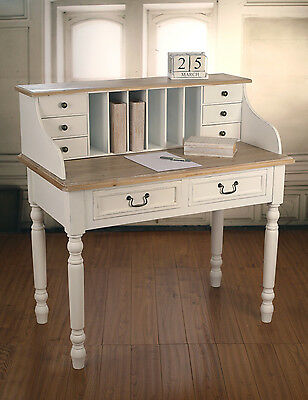Desk Side Table French Provincial Antiqued Style 8 Drawers Unit BRAND NEW