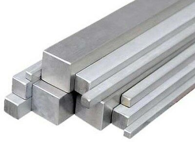 Stainless Steel Square Bar Grade 304 & 316 30CM or 1MTR