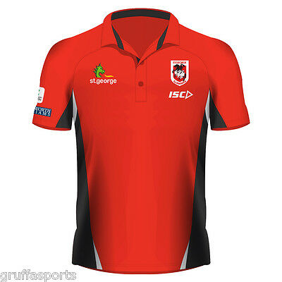 St George Illawarra Dragons 2017 Performance Polo Shirt Sizes Small - Medium ISC