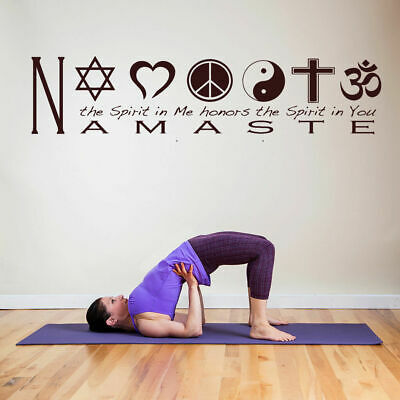 WALL DECAL VINYL Sticker Decals namaste quote lettering yoga