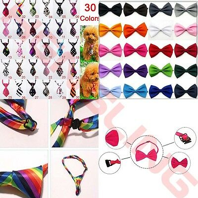 10/30/50Pcs Wholesale Pet Dog Cat Puppy Necktie Bow Tie Ties Collar Grooming Out