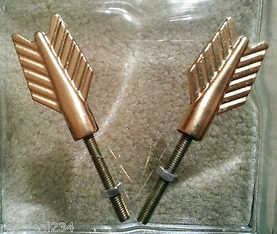 New 6 Gold Arrow Feather Knobs Handles Pulls Iron Cabinet Drawer