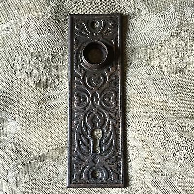 Antique Stamped Art Deco/nouveau Pattern Backplate- #d