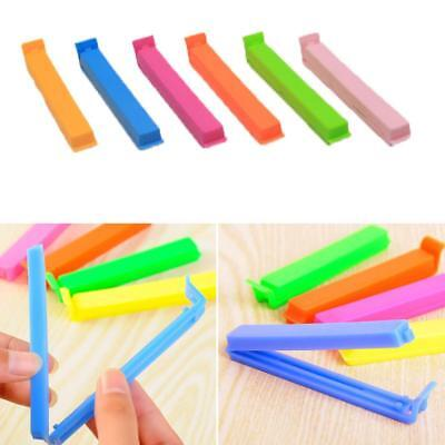 6 pcs Kitchen Storage Food Snack Seal Sealing Bag Clips Clamp Plastic Tool - DD