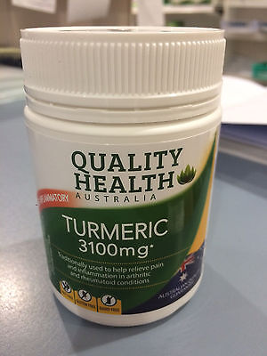 TURMERIC 3100mg HIGH STRENGTH 100 capsules ARTHRITIS JOINTS AUSTRALIAN 3100 mg