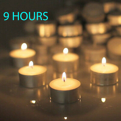 100 x White 9 Hours Wedding Tealight Candle Home Party Decor