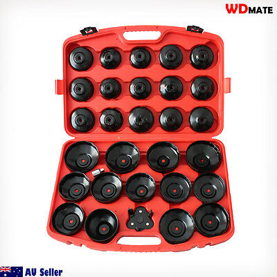 "30pc Cap Wrench Socket Oil Filter Removal Service 65-108mm 3/8 1/2"" Car 20003059"